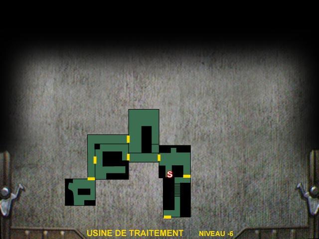 Usine de traitement Niveau -6 Resident Evil 0