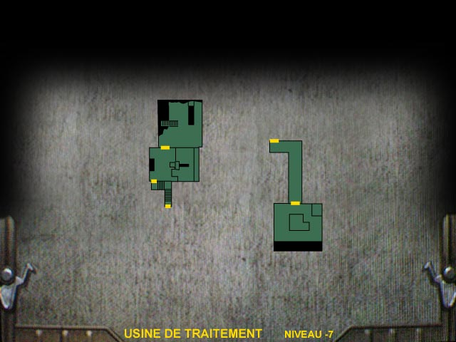 Usine de traitement Niveau -7 Resident Evil 0