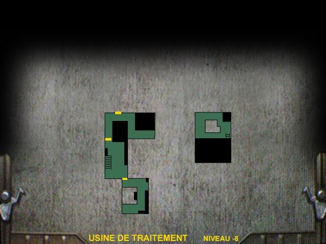 Usine de traitement Niveau -8 Resident Evil 0