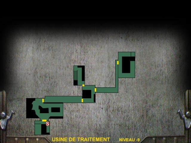 Usine de traitement Niveau -9 Resident Evil 0