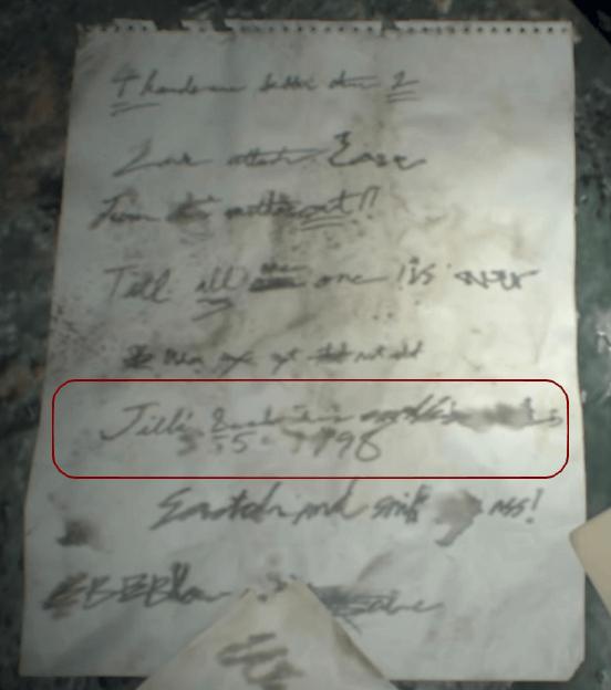 Jill's Sandwich Resident Evil 7