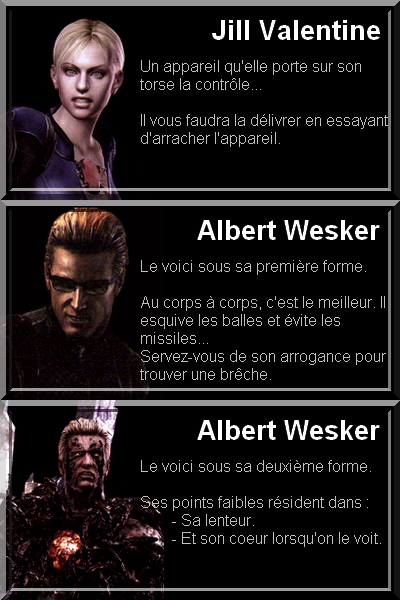 Jill et Wesker - Resident Evil 5