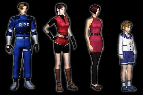Resident Evil 2 – Les personnages principaux
