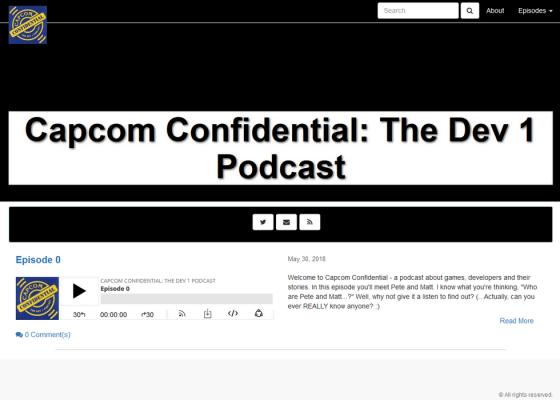 Capcom Confidential – Le site web