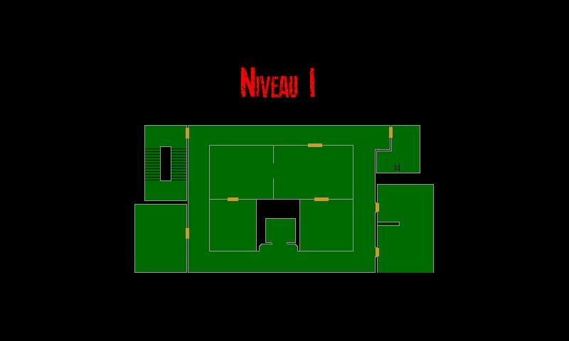 Resident Evil 7 – Plan de l'Epave du Navire (Niveau 1)
