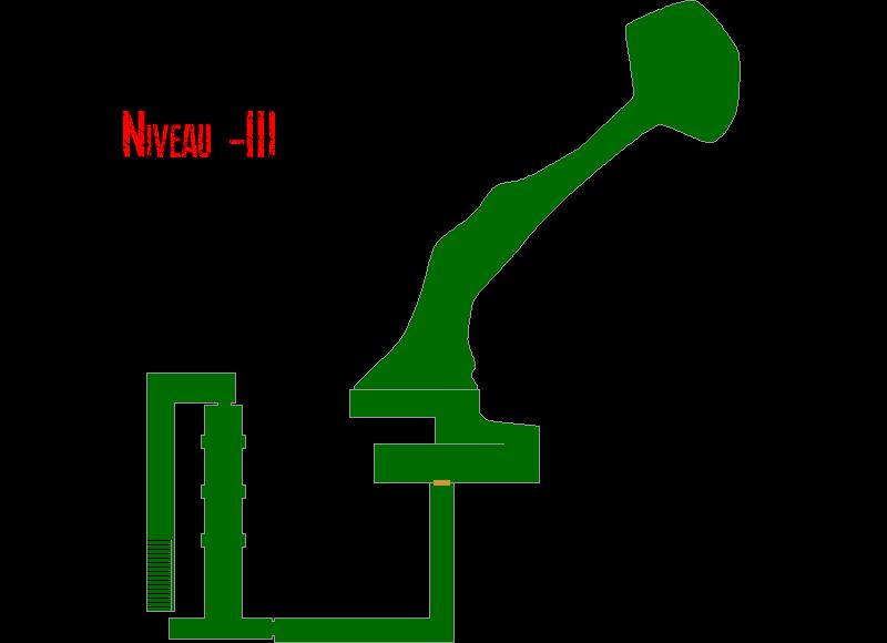 Resident Evil 7 – Plan de l'Epave du Navire (Niveau -3)