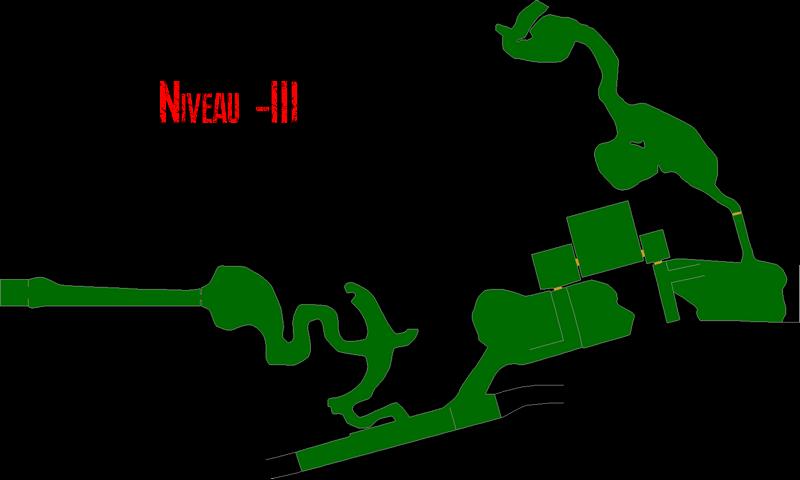 Resident Evil 7 – Plan des Mines de Sel (Niveau -3)