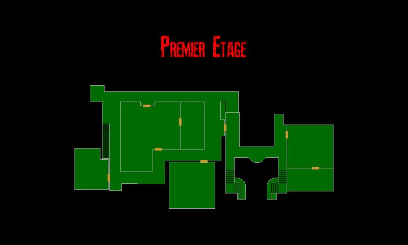 Resident Evil 7 – Plan de la Résidence Principale (Premier Etage)