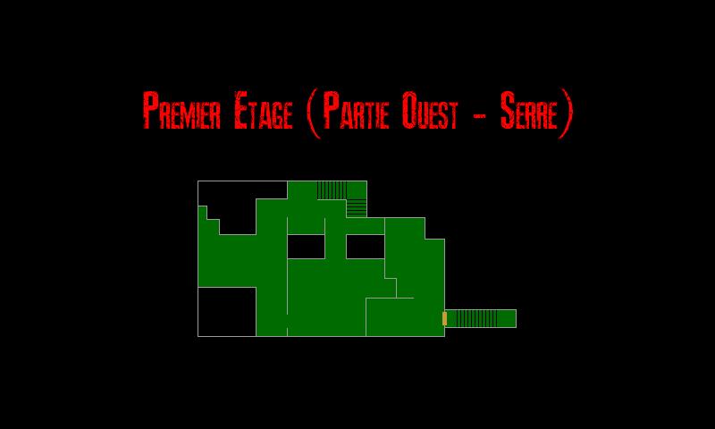 Resident Evil 7 – Plan de la Vieille Maison (Premier Etage – Serre)