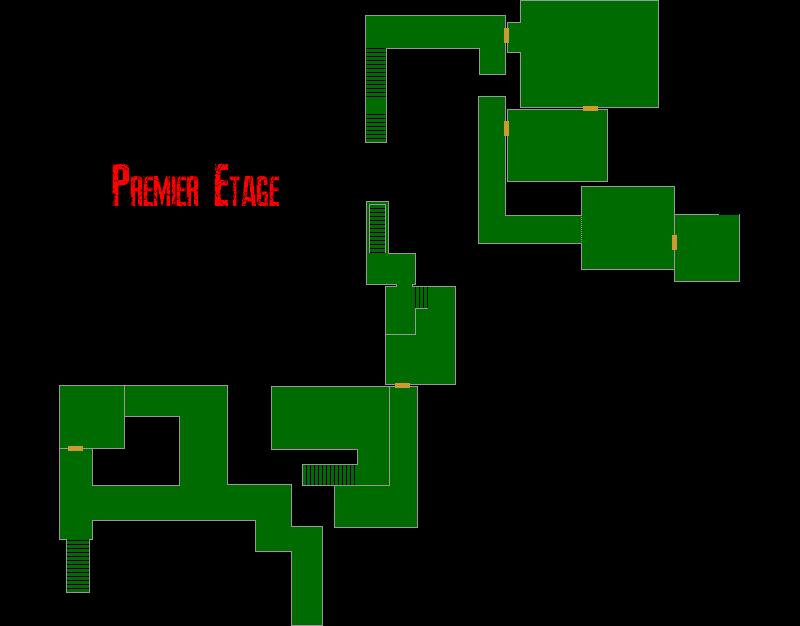 Resident Evil 7 – Plan de la Zone de Test (Premier Etage)