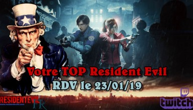 LIVE Resident Evil : Votre TOP des jeux !